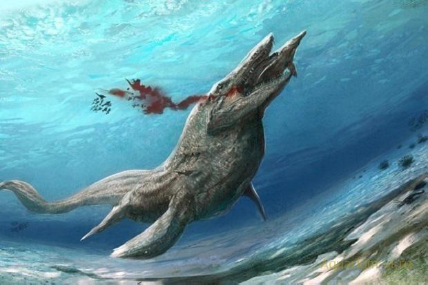 нечто глотает акул целиком.. Лиоплевродон