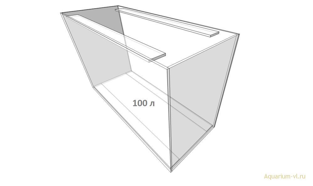 размеры аквариума 100 л