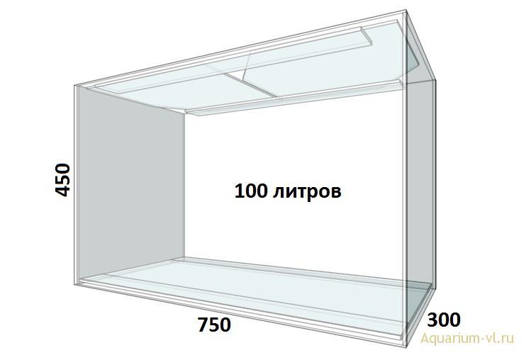 Аквариум 100 л внешние размеры