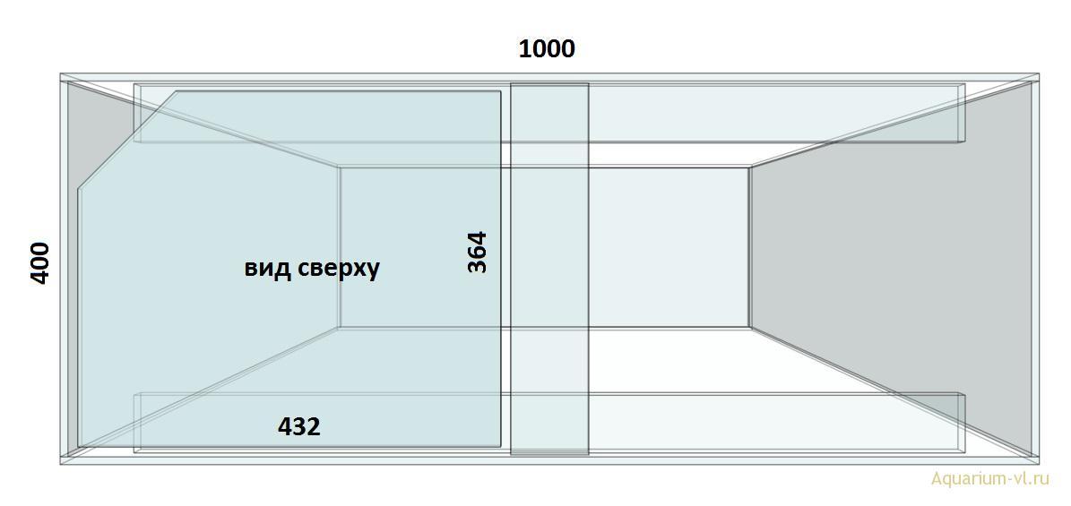 Покровное стекло для аквариума 240 л