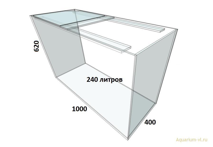 Аквариум 240 литров сборка