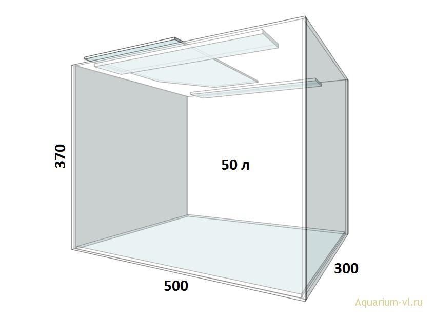 внешние размеры аквариума