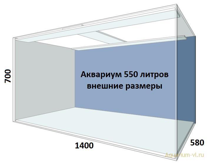 Аквариум 550 литров цена