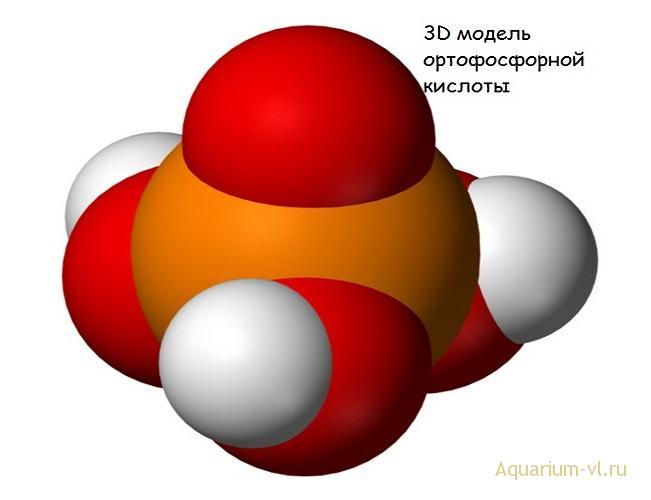 3d модель ортофосфорной кислоты