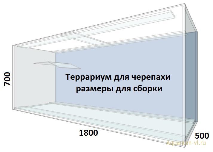 Террариум 600 литров размеры