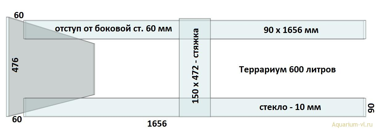 Верхние ребра жесткости террариум 600 л