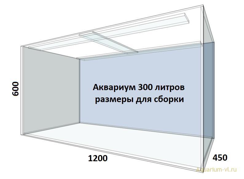 Внешние размеры аквариум 300 л