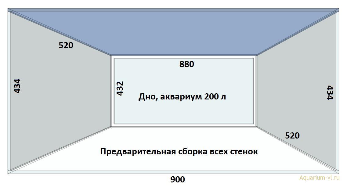 Сборка аквариума 200 л