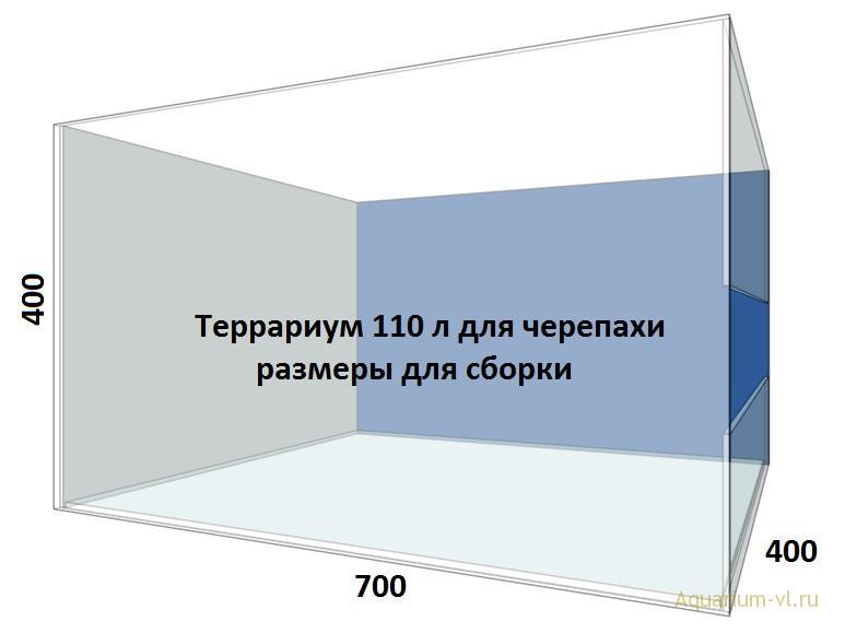 Террариум 110 л для сухопутной черепахи