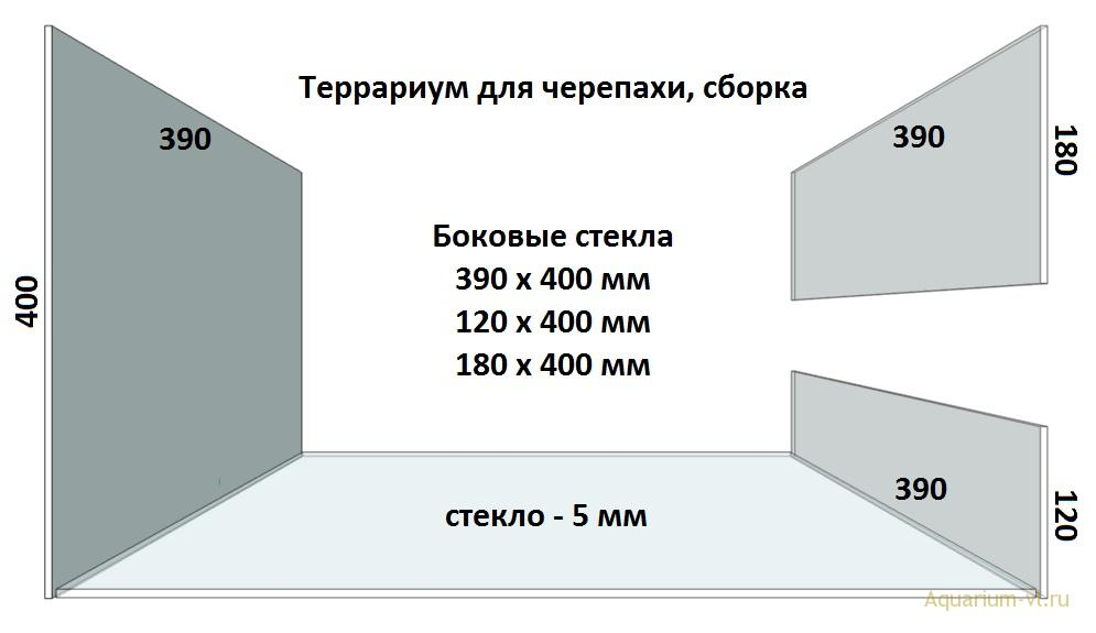 Боковые стекла, террариум 110 л