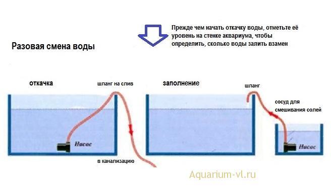 Способ первый смены воды. Разовый