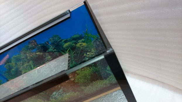 Обработка стекла на станке для аквариума 110 литров