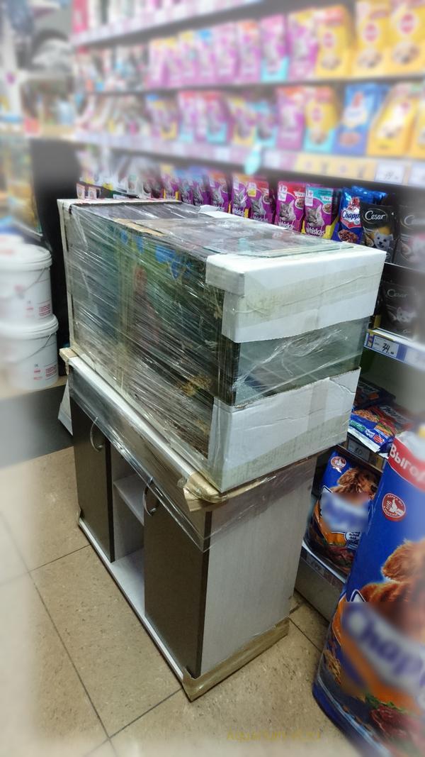 Аквариум 125 литров упаковка и доставка