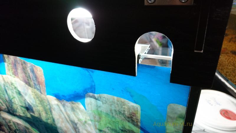 Можно заказать крышку для аквариума с подсветкой