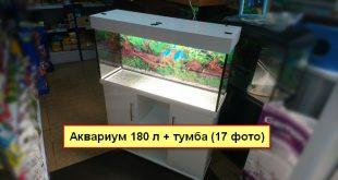 Аквариум 180 литров с тумбой