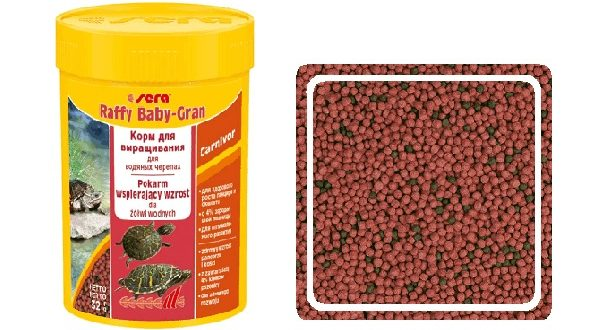 sera Raffy Baby-Gran корм для маленьких черепах