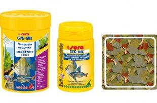 SERA GVG-mix: хлопья для карпозубых и морских рыб