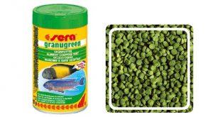 Гранулы SERA Granugreen для растительноядных цихлид
