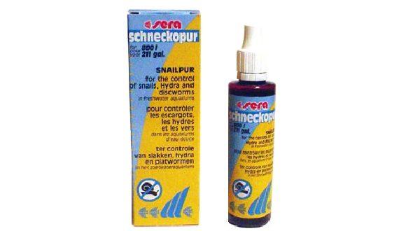 SERA schneckopur средство для очищения пресноводного аквариума от плоских червей