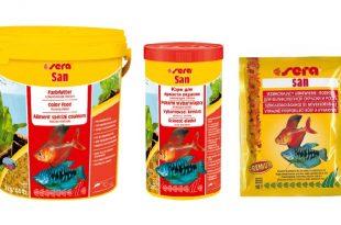 Sera San - хлопьевидный сухой корм для аквариумных рыб