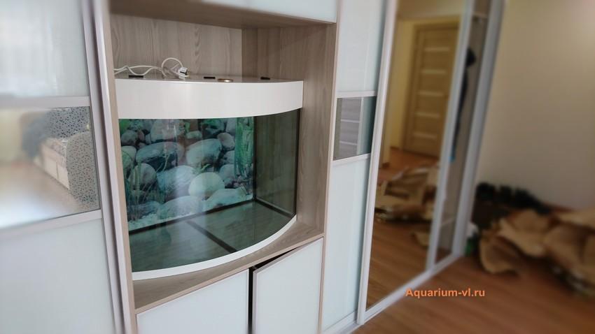 аквариум панорамный 200 литров фото