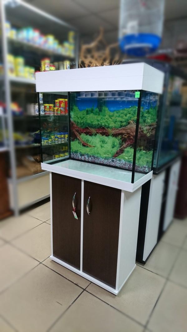 аквариум с тумбой 100 литров
