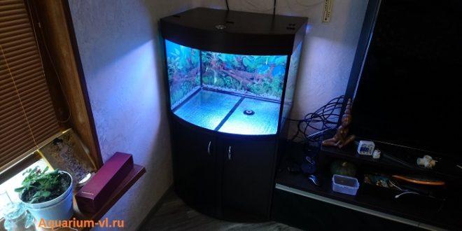 аквариум панорамный с тумбой