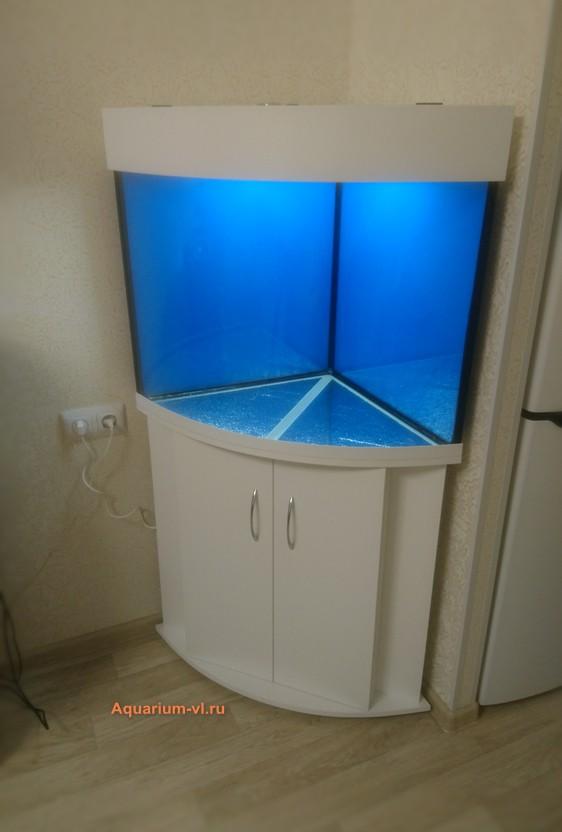 аквариум угловой панорамный