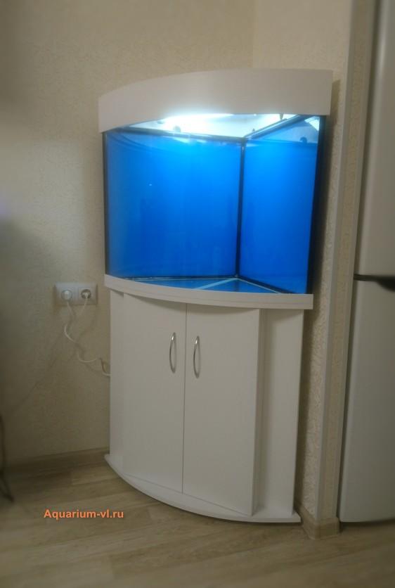 размеры углового аквариума