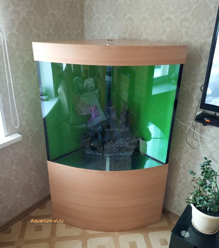 угловые панорамные аквариумы