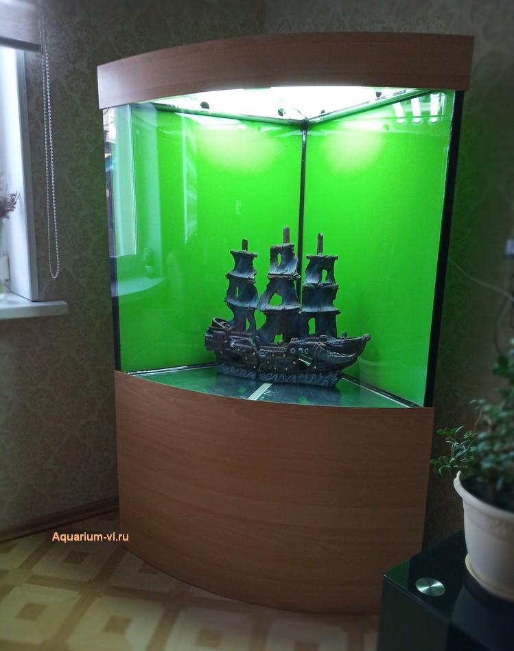аквариум угловой высокий